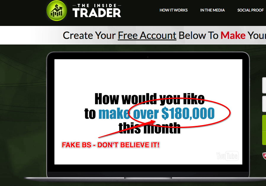 The Inside Trader Software Scam - Don't Believe It! 10