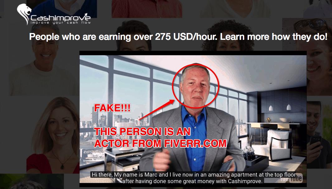Cash Improve Scam - Don't Trust Fake Actors! 8