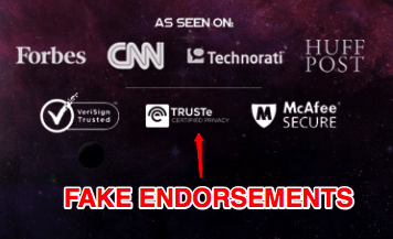 fake endorsements profits perpetual