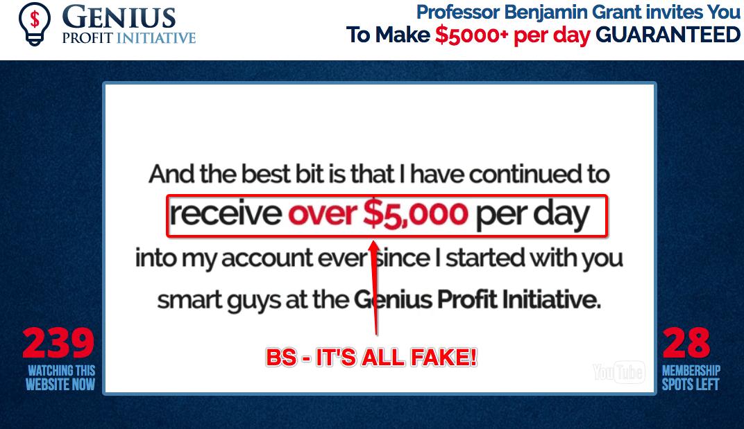 genius profit initiative scam software