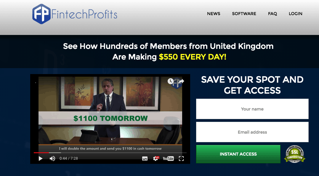 fintech profits software