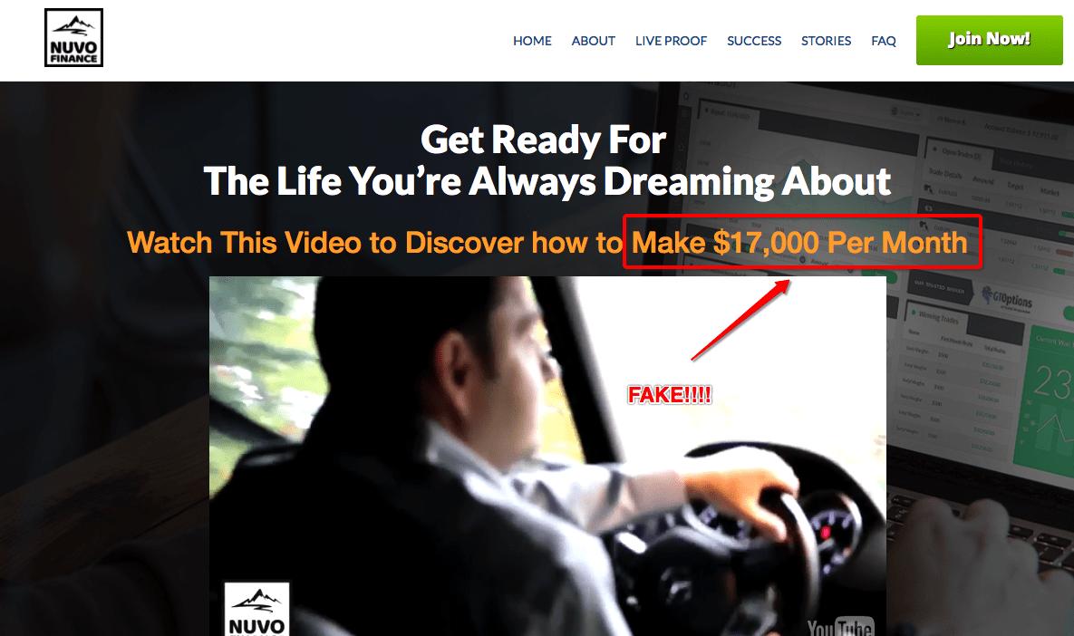 nuvo finance scam website