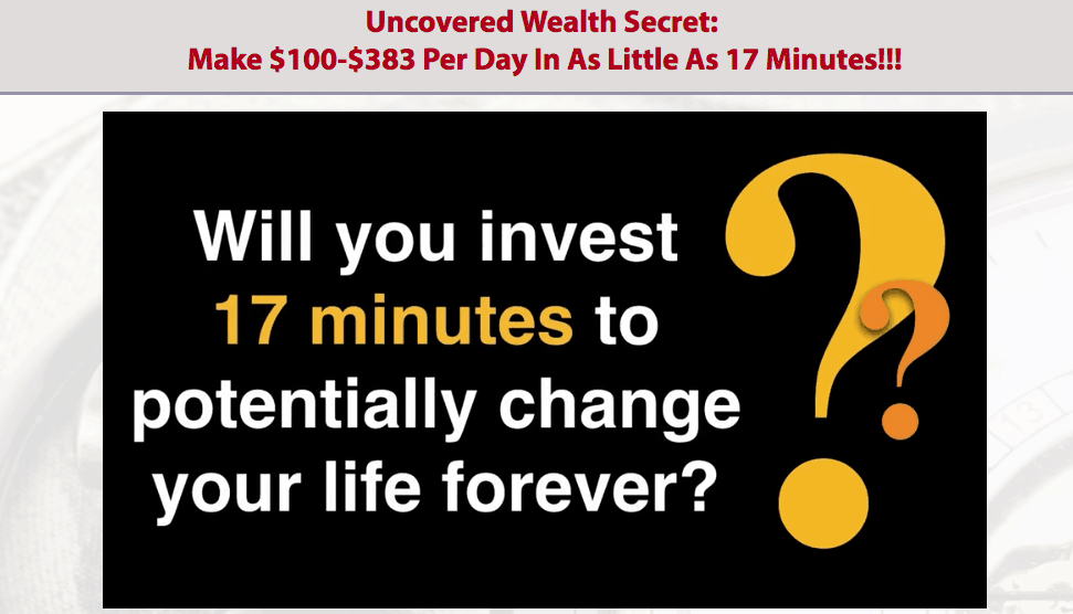 17 Minutes To Wealth Scam - Don't Trust BS! 8