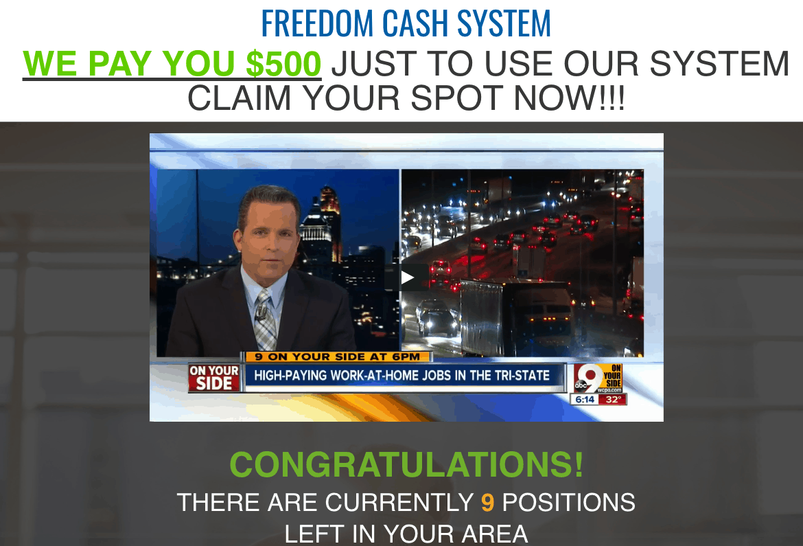 Freedom Cash System - Scam Exposed! 2