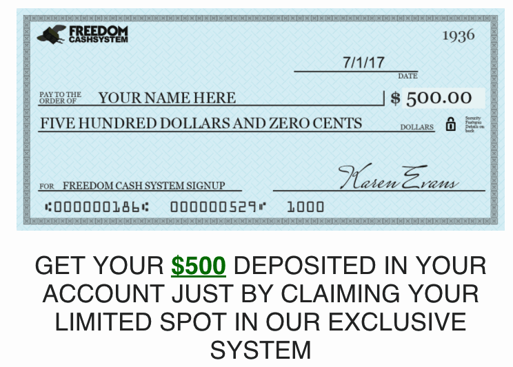 Freedom Cash System - Scam Exposed! 3