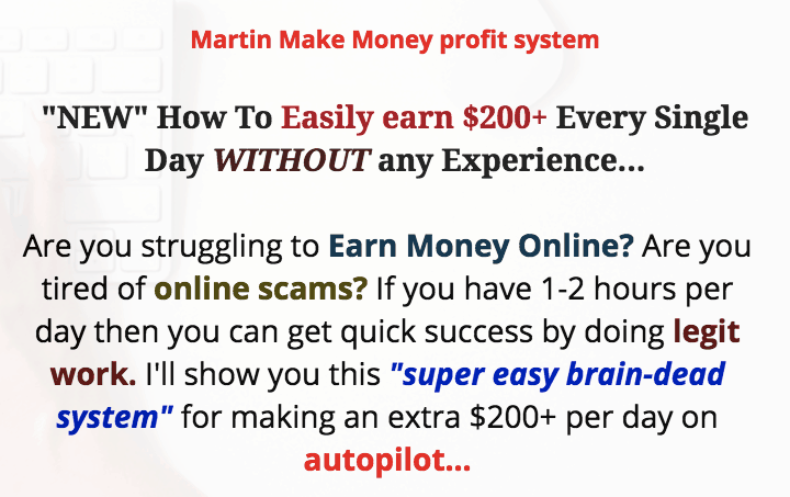 Martin Make Money Profit System - Scam or Real? 2