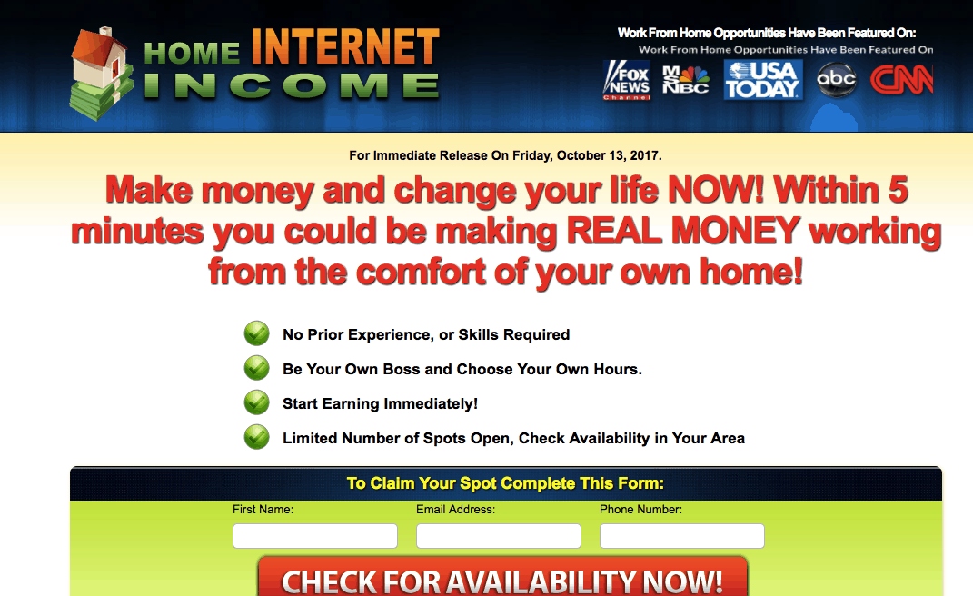 home internet income club