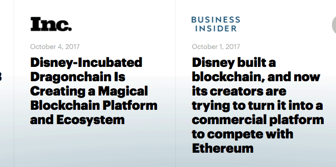 dragonchain disney connection