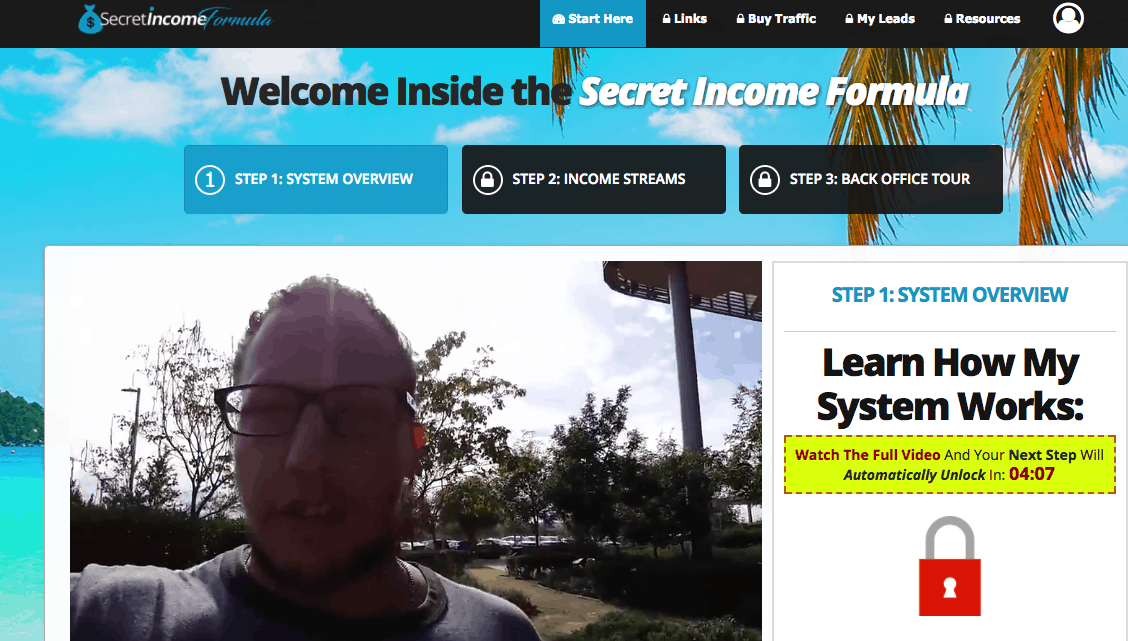 secret income formula members area