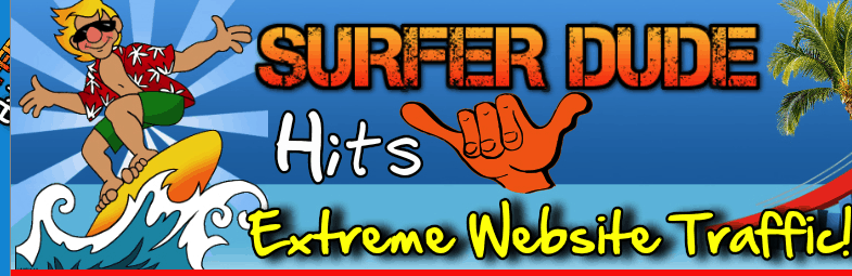surfer dude hits website