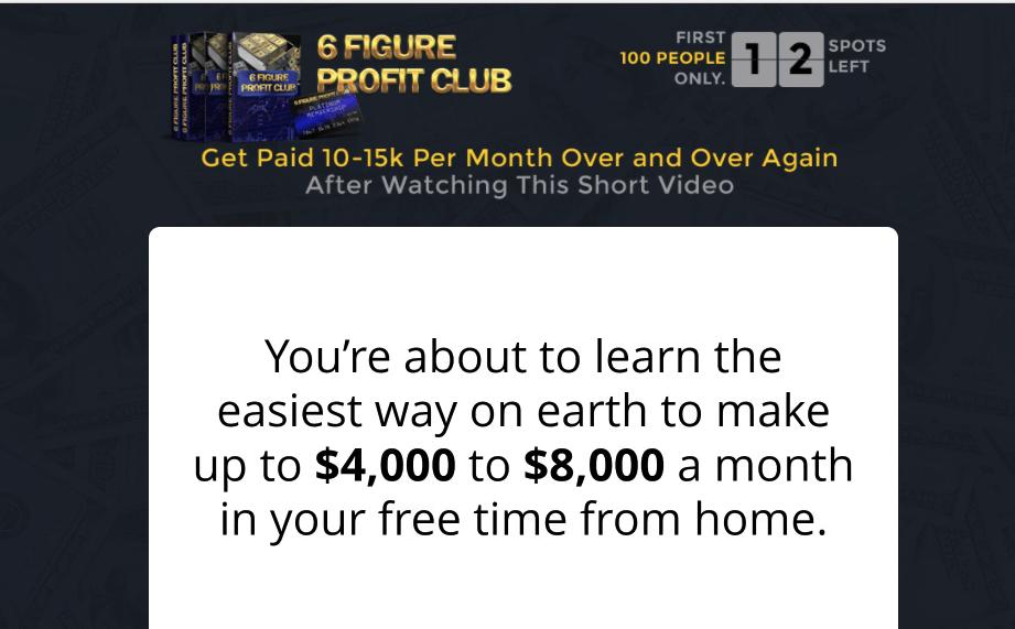 6 figure profit club review