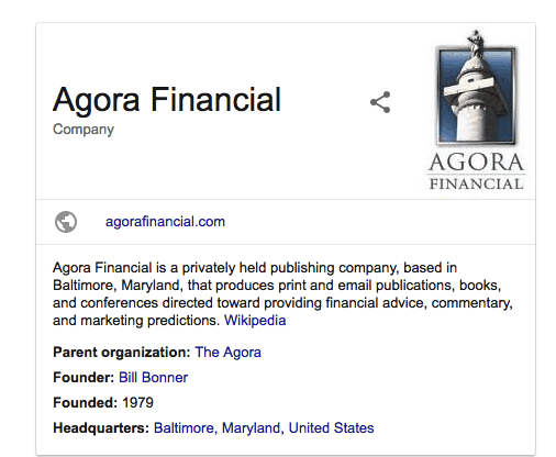 agora financial information