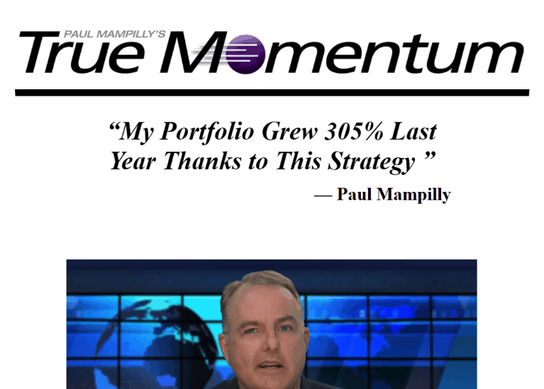 true momentum by Paul Mampilly website