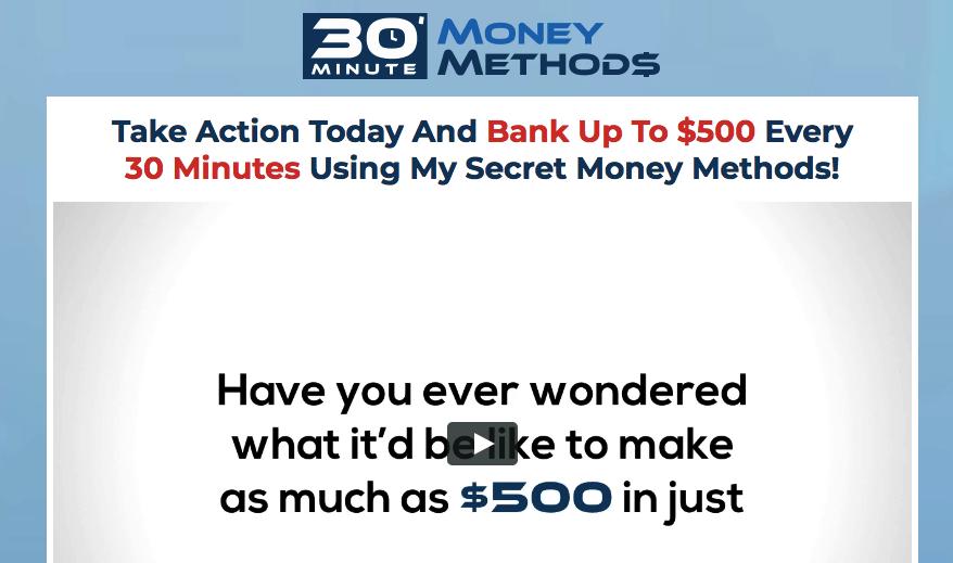 30 minute money methods website