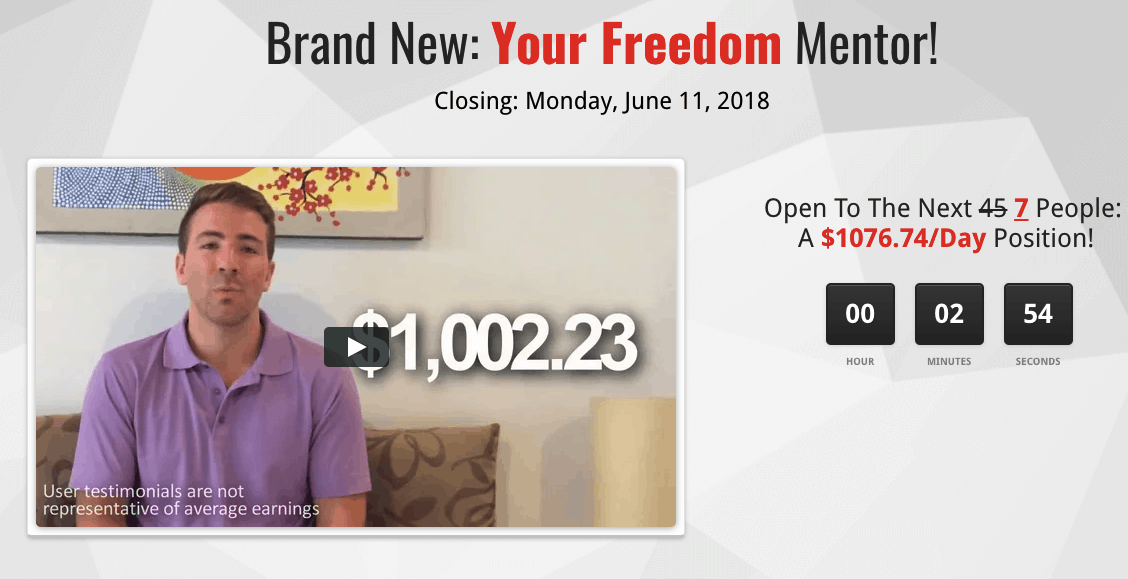 your freedom mentor website