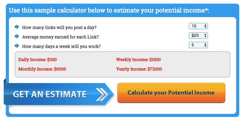 fake income calculator for my home success plan