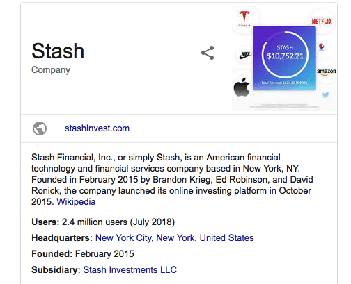 stash invest information