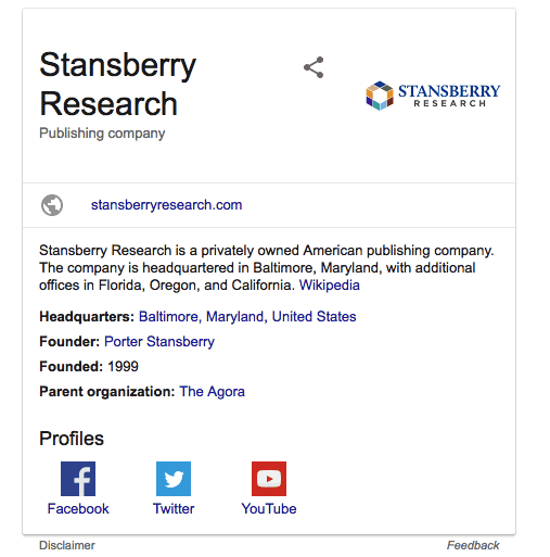 stansberry research information