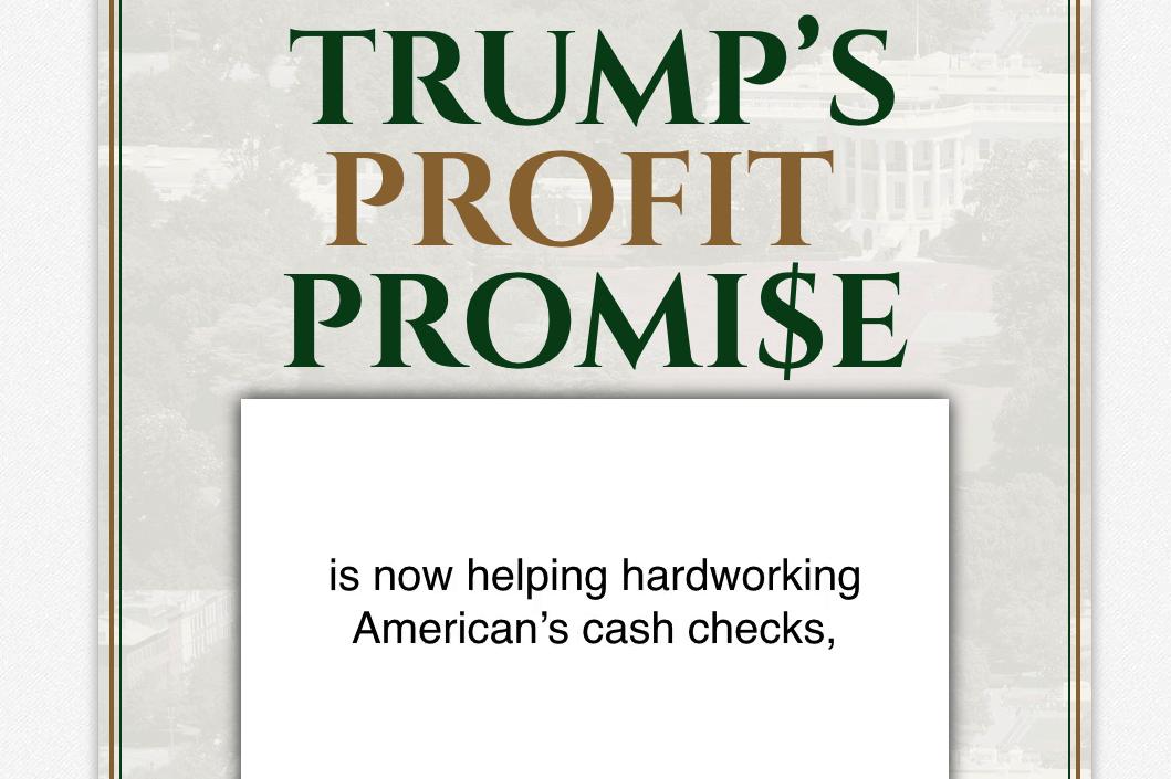 trump's profit promise