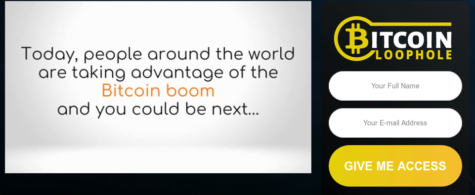 bitcoin loophole app scam website