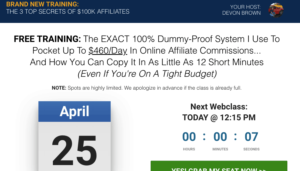 Open Box 12 Minute Affiliate System