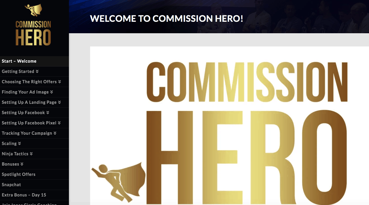 On Youtube  Affiliate Marketing Commission Hero