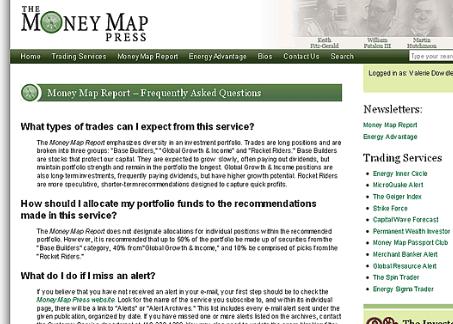 money map report website