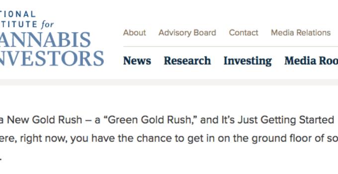 cannabis investors website
