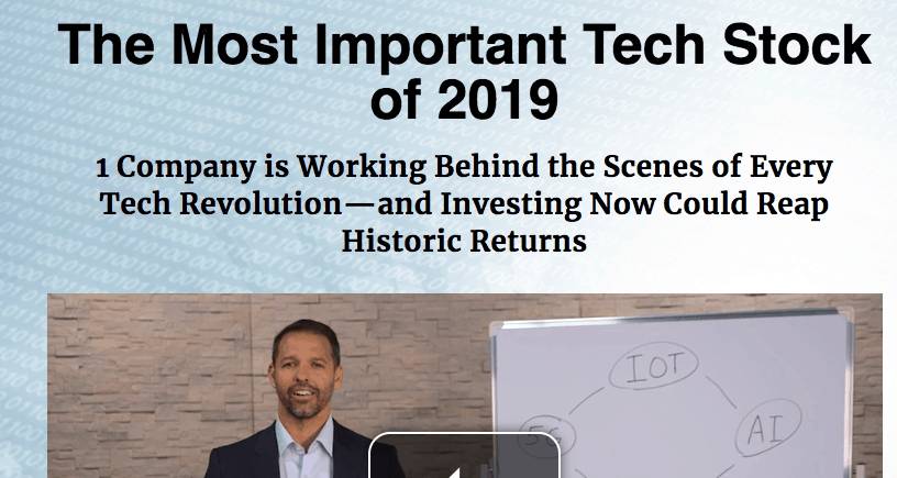 most important tech stock 2019