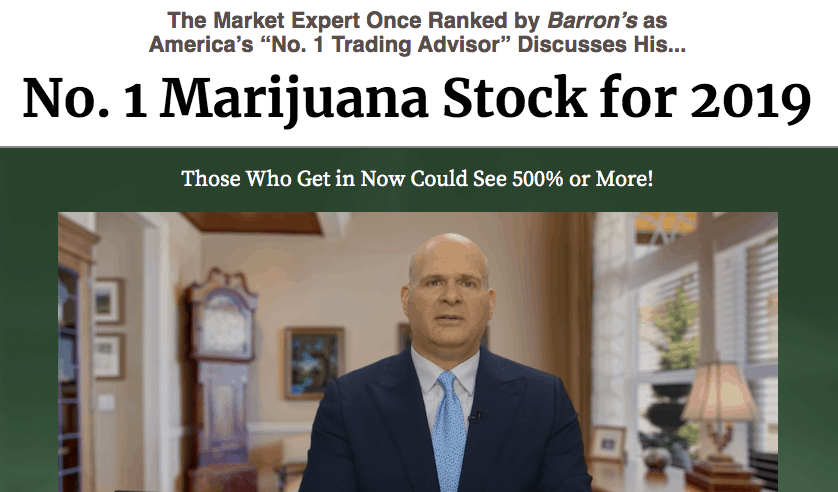 no.1 marijuana stock for 2019 by charles mizrahi