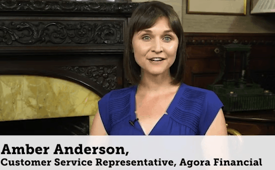 Amber Anderson from Agora Financial