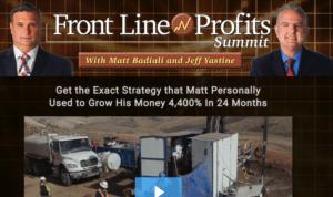 Front Line Profits Summit by Matt Badiali [Honest Review] 3