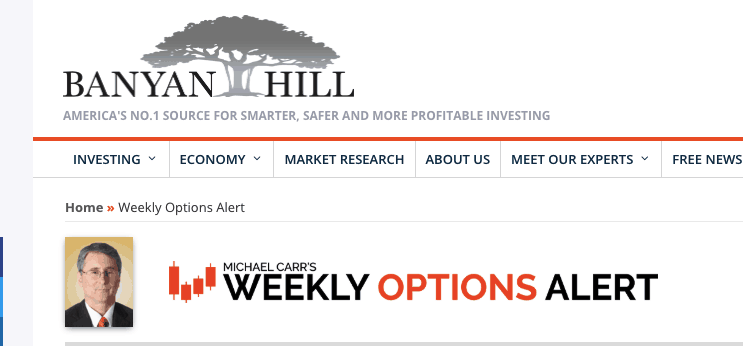 weekly options alert michael carr