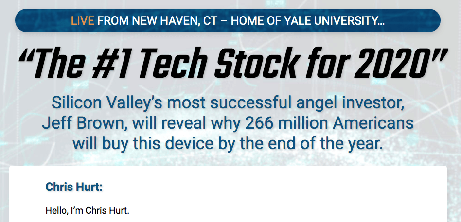 the #1 tech stock for 2020