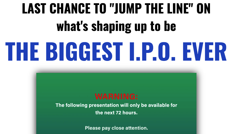 the biggest ipo ever