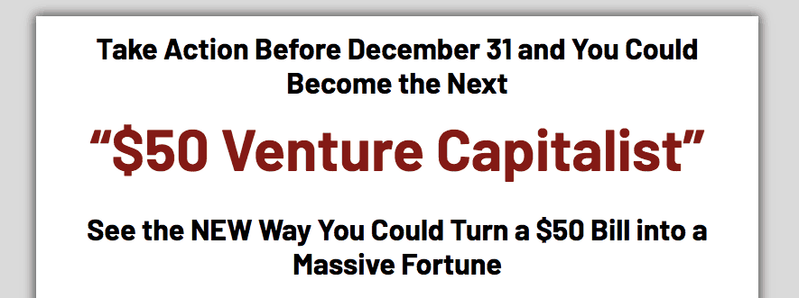 $50 venture capitalist website
