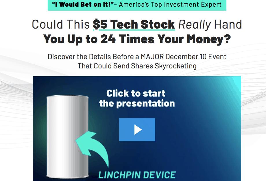 $5 tech stock website