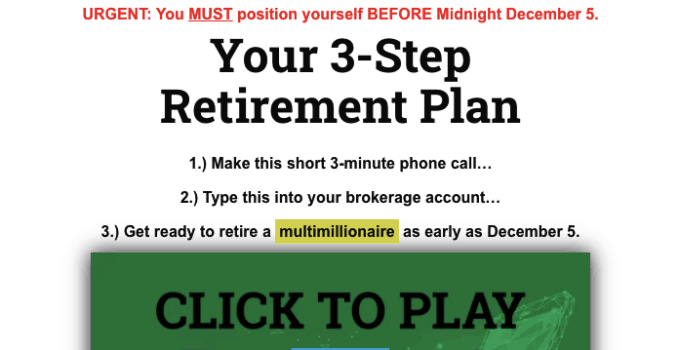 your 3 step retirement plan