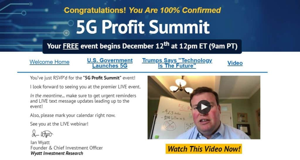5G Profit Summit by Ian Wyatt