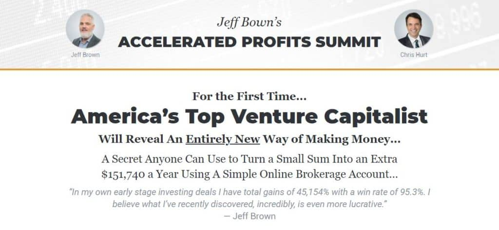 Accelerated Profits Summit by Jeff Brown