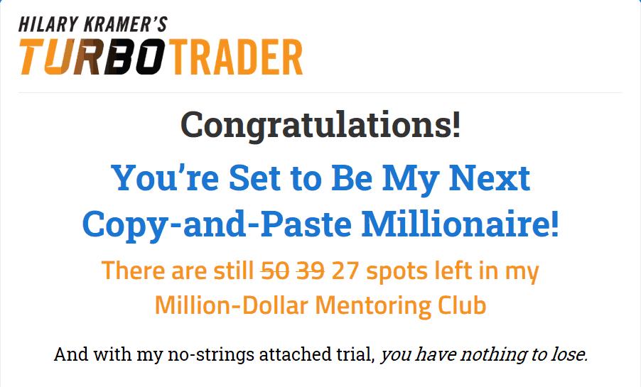 Turbo Trader - Is Hilary Kramer's 'Turbo Trader' Legit? 8