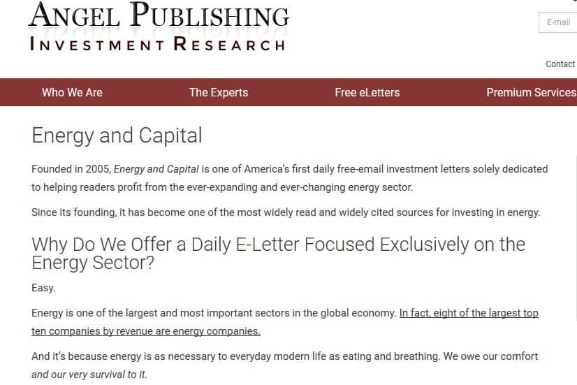 energy and capital from angel publishing