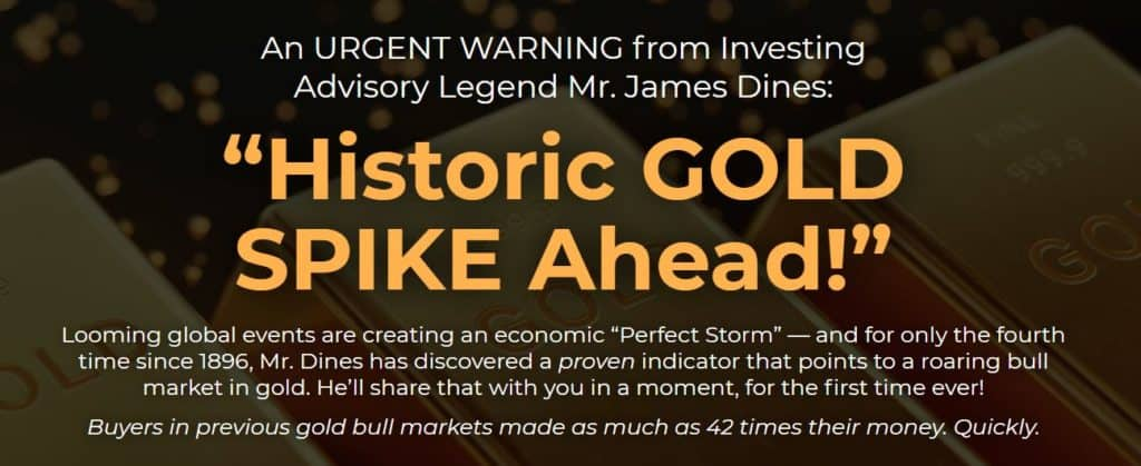 Historic Gold Spike Ahead by James Dines