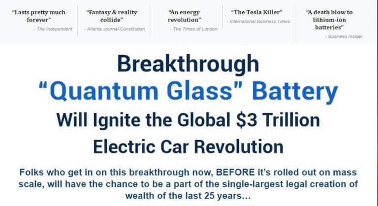 Quantum Glass Battery by Matt McCall