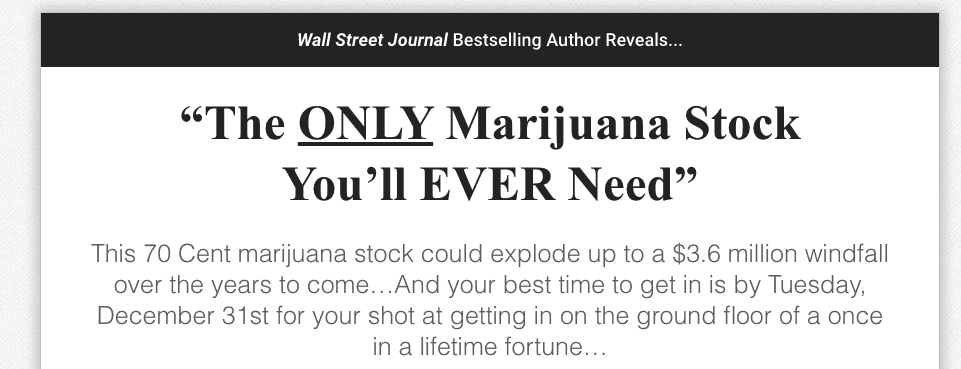 the only marijuana stock you'll ever need