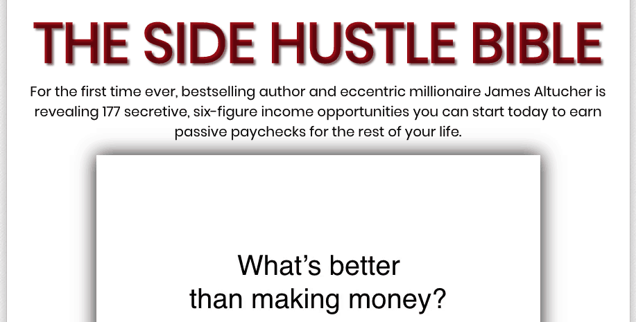 the side hustle bible website