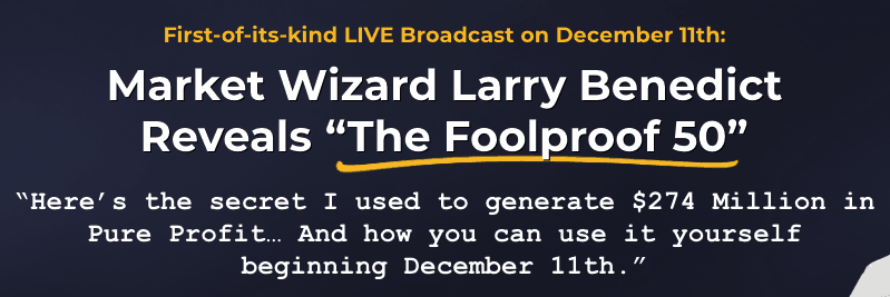 the foolproof 50 by larry benedict