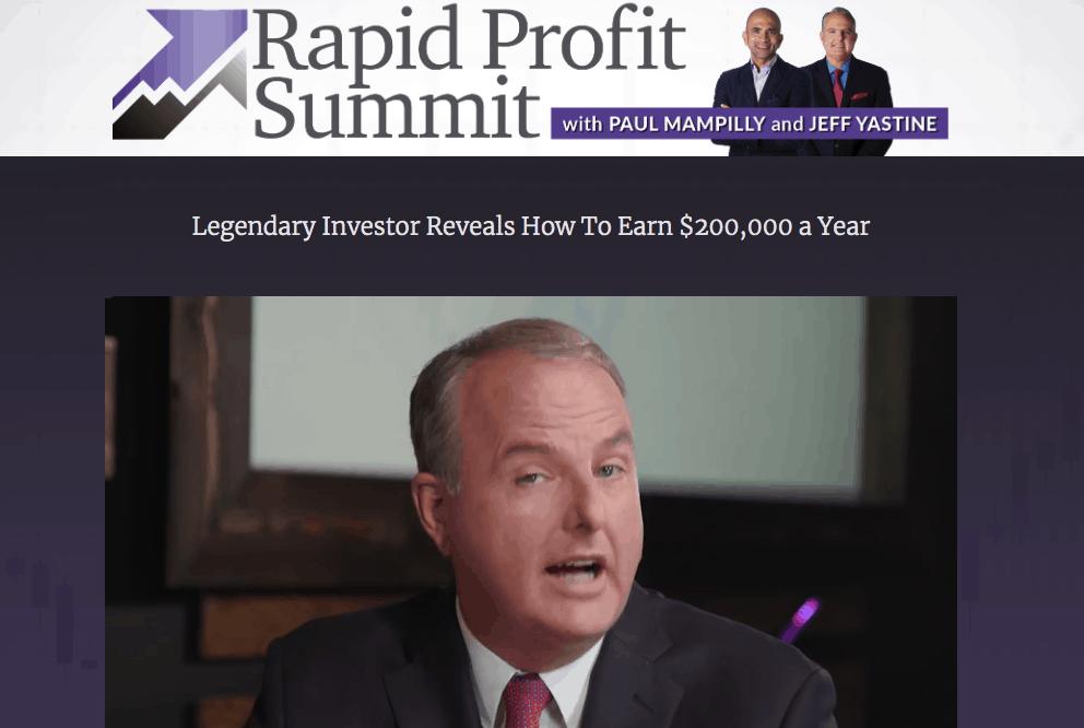 rapid profit summit paul mampilly