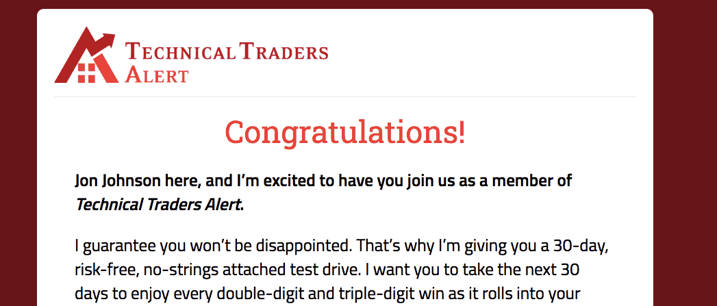 technical traders alert