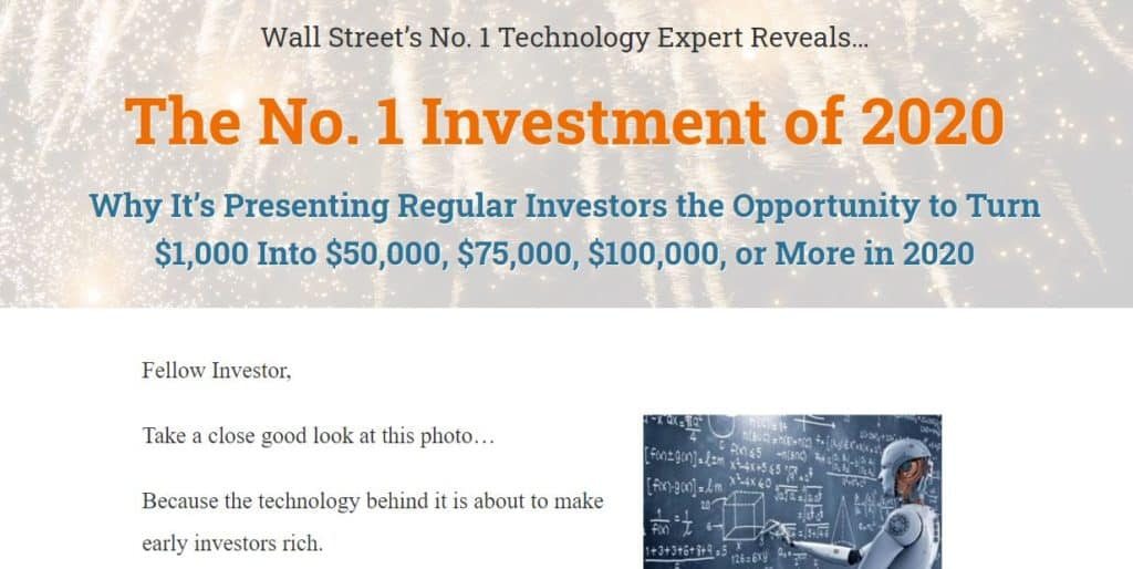 The No. 1 Investment of 2020 by Hilary Kramer